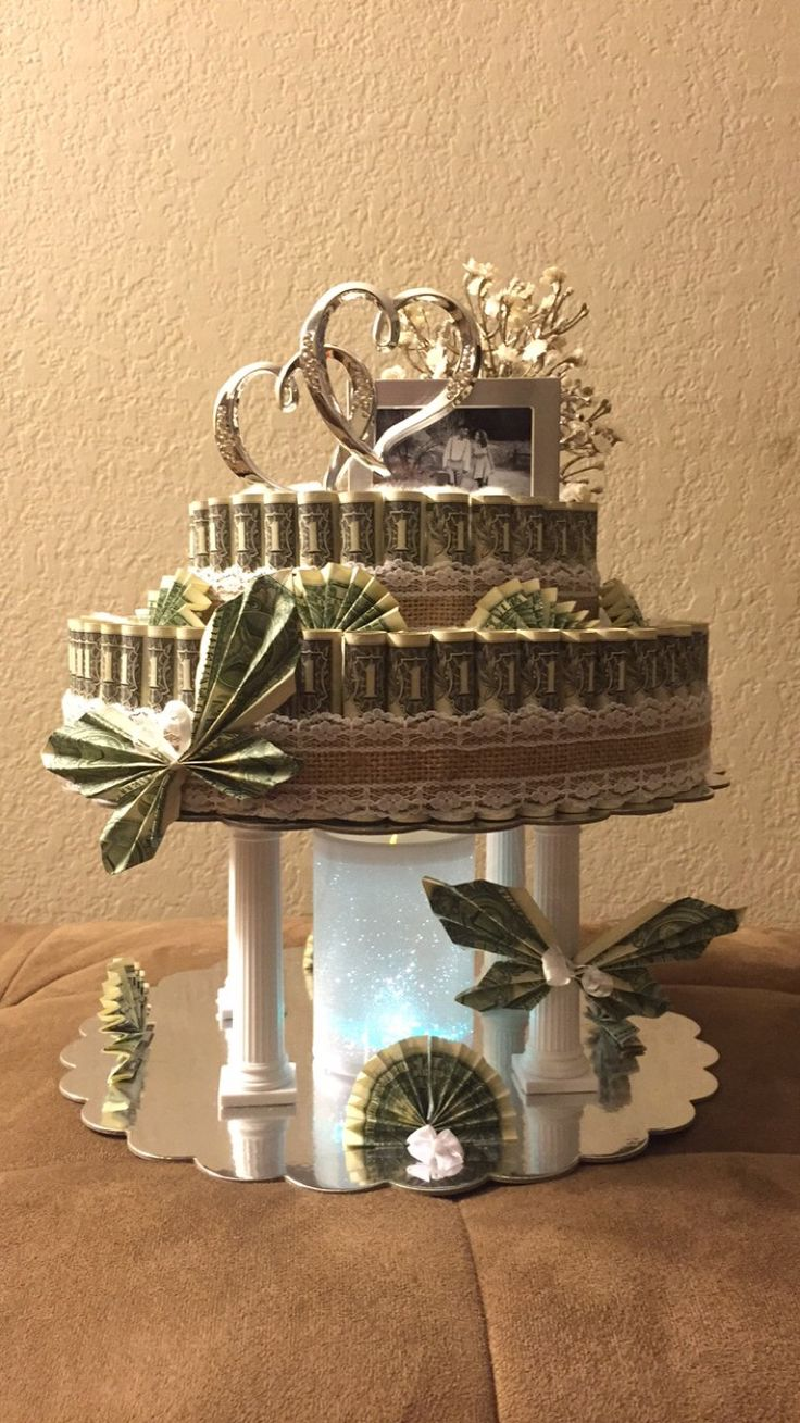 how to make a wedding cake money box best 25 money flowers ideas on 15893