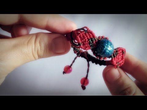 Tutorial pulseira folha de macrame passo a passo by Criativa e Natural - YouTube