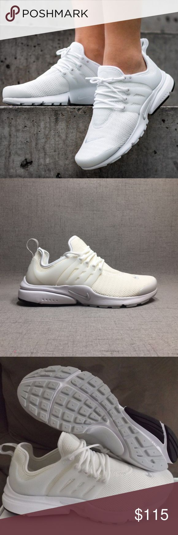 Women's Nike Air Presto (Size 8) Brand new in Box 100% authentic Excellent condition Size 8 women White/Pure platinum colorway Ships doubled boxed Secured Packaging Same day/next day shipping Nike Shoes Sneakers