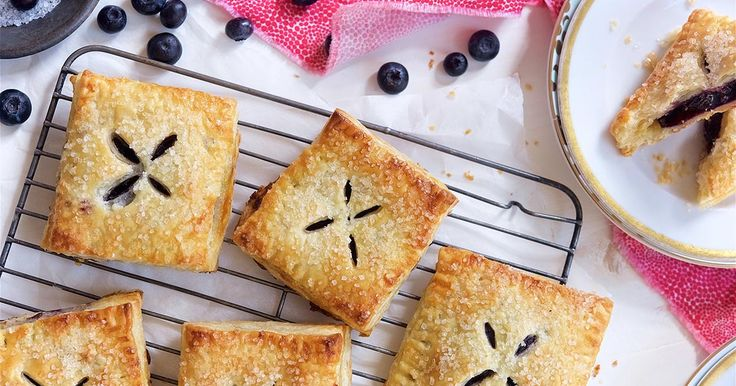 Blueberry Hand Pies - An on-the-go snack made from tasty blueberries. http://www.kingarthurflour.com/recipes/blueberry-hand-pies-recipe