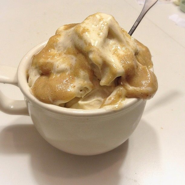 "banana ice cream with ""caramel"" sauce for dinner...GUILT FREE. The ..."
