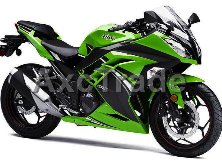 Motorcycle Fairings For Kawasaki Ninja 300 ZX300 EX300 2013 2014 13 14 ABS Plastic Injection Fairing Bodywork Kit Green Color KM #Affiliate