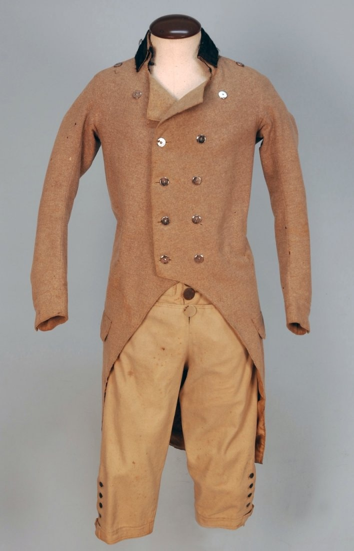 GENT'S EVERYDAY WOOL COAT and BREECHES, 1800-1820.
