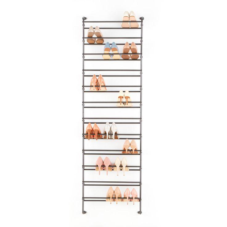 Wall / over door shoe rack