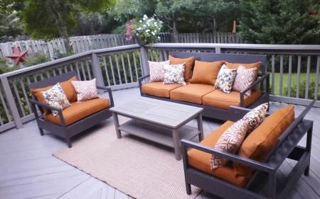 Diy Patio Furniture And Cushions First Build Outdoor