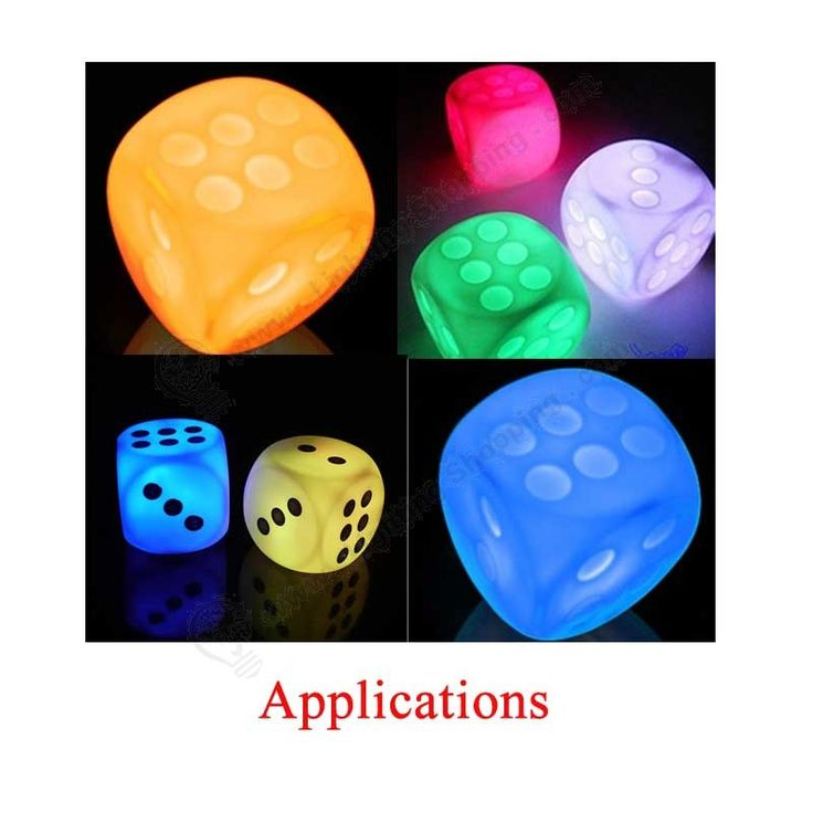 Best LED Gadgets, Dice Shape, 7 Color, Cute Novelty, Party Gift - Application