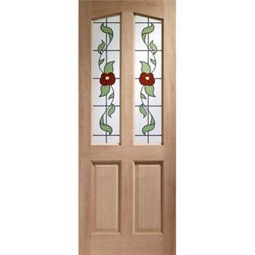 Image of Richmond Hardwood Door with Dowel Joints - Keats Single Glazing