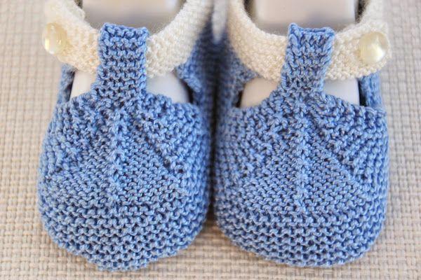 DIY Cómo tejer patucos sandalias bebe con dos agujas | Aprender manualidades es facilisimo.com