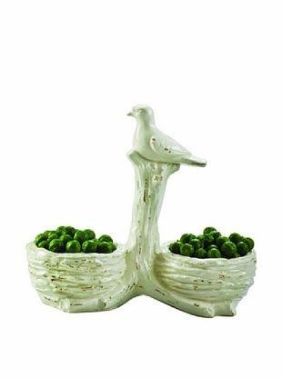 Global Views White Ceramic Two-Part Nest Bowl