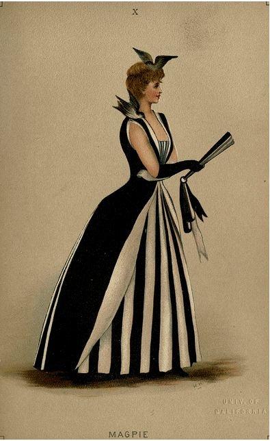 magpie: Fancy Ball, Fancy Dresses, Vintage Halloween, Fashion Dresses, Halloween Costumes, Black White, Magpie Costumes, Dresses Describ, Night Circus
