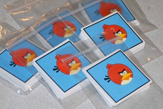 favor idea....Angry birds matching game!