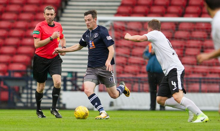 Queen's Park's David Galt in action during the Betfred Cup game between Queen's Park and Edinburgh City.