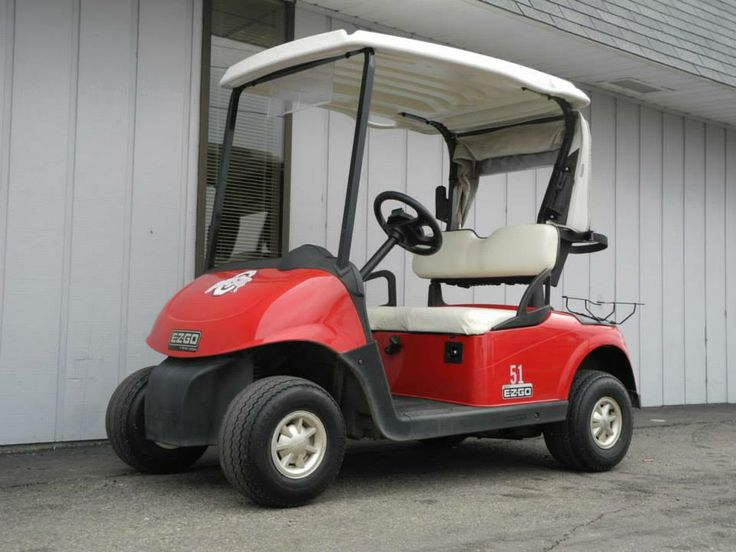 This 2009 E-Z-GO RXV gas golf car just came out of fleet service at the Ohio State University golf course, so it features the Flame Red body, bag cover, and OSU graphics for just $3290. See more at: http://www.powerequipmentsolutions.com/products-a-services/online-store/used-golf-carts/e-z-go-golf-carts/e-z-go-gas-golf-carts/2009-e-z-go-rxv-gas-golf-car-red.html  #EZGO #RXV #gasgolfcar #usedgolfcar #red #OSU #Buckeyes #PES #Vandalia — at Power Equipment Solutions, LLC.