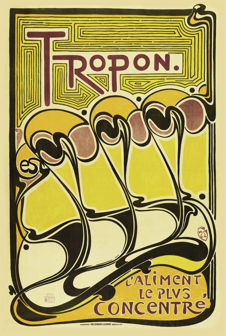 HENRY VAN DE VELDE. Tropon. 1898.