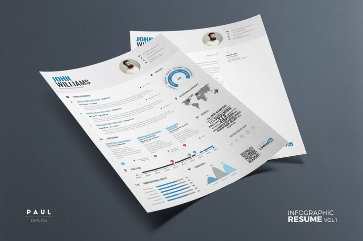 Infographic Resume - Psd Indd & Docx by Paul on Creative Market