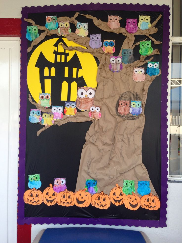 Halloween bulletin board // october bulletin board // periodico mural octubre