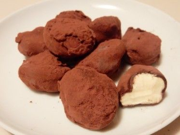 Slagroom truffel