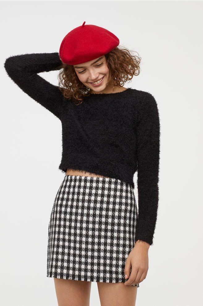 H\u0026M Fluffy Sweater , Black in 2019