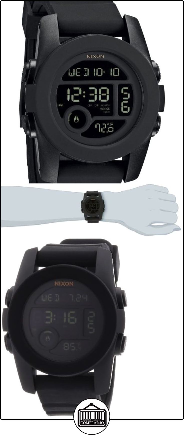 Nixon A490001-00 - Reloj digital unisex de silicona negro  ✿ Relojes para hombre - (Gama media/alta) ✿