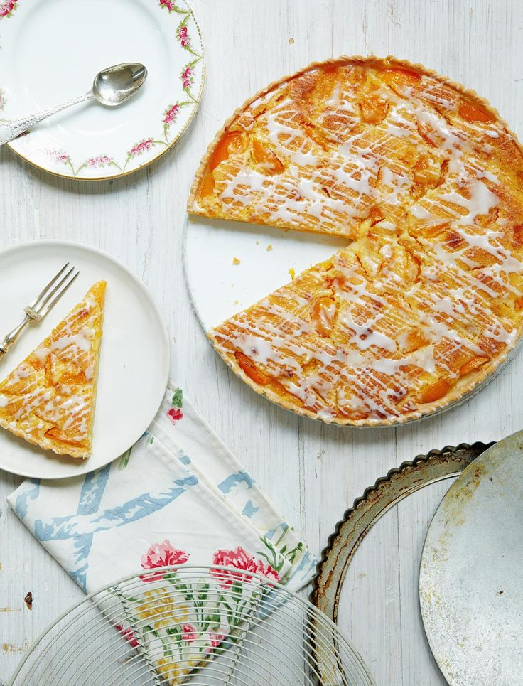 Apricot Frangipane Tart from Mary Berry's Absolute Favourites.The apricots and frangipane filling create a delicate flavoured tart, made all the more tasty thanks to the crisp pasty case.