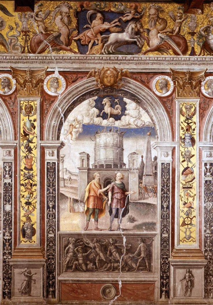 Sign of Capricorn - Giovanni Maria FALCONETTO,  1515-20  Fresco  Palazzo d'Arco, Mantua