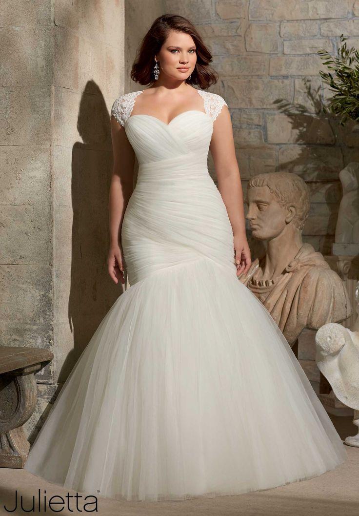 plus size mermaid wedding dress bridal gowns designer julietta wedding dress style 3176