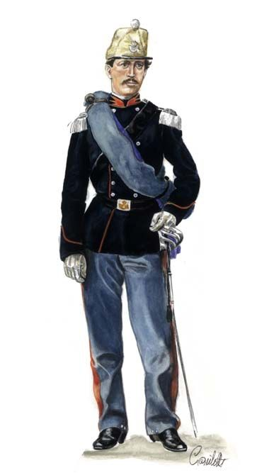 1860-1863 Capitano del Rgt. Cavalleggeri di Alessandria