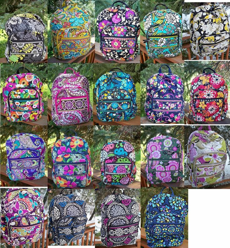 I have this in the second top I love almost all vera patterns! these are campus backpacks