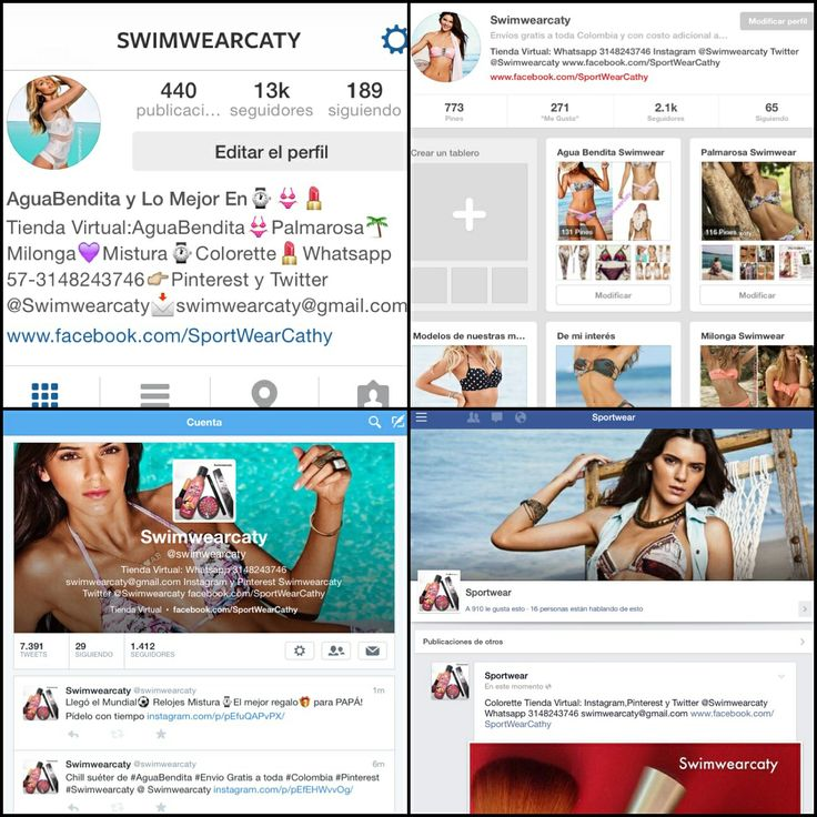 Siguenos en todas las redes: Instagram,Pinterest y Twitter @Swimwearcaty www.facebook.com/SportWearCathy