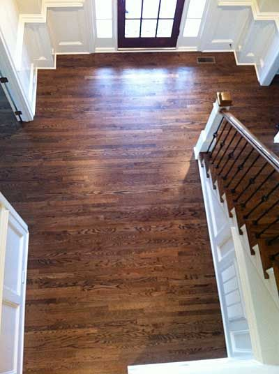 Red Oak With Grain Popped Custom Stain Blend Duraseal
