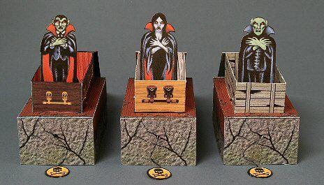 POP-UP VAMPIRES (free mechanical paper models) Printable from Ravensblight