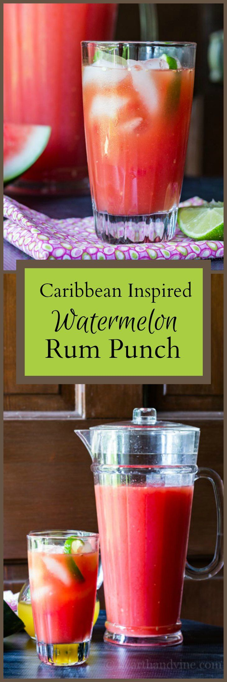 This recipe for watermelon rum punch was inspired by a trip to Santa Domingo in the Caribbean. Light, refreshing and perfect for a summer party.