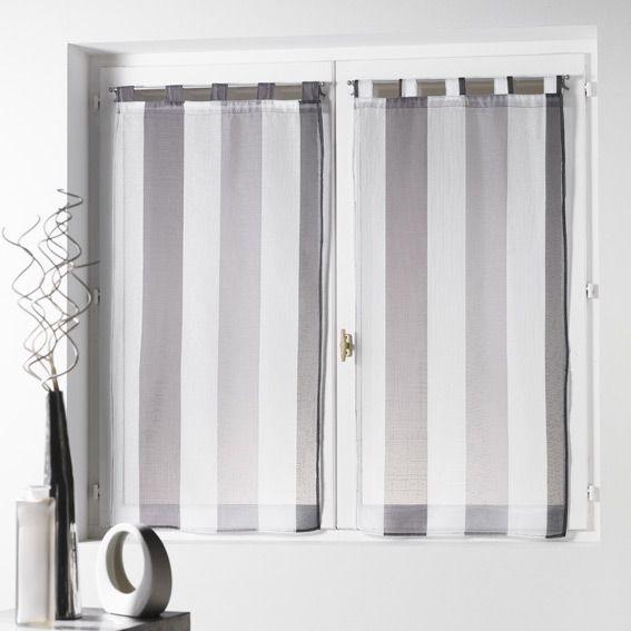 Paio di tende trasparenti (60 x H120 cm) Riviera Grigio : scegli tra tutti i nostri prodotti Tenda a vetro
