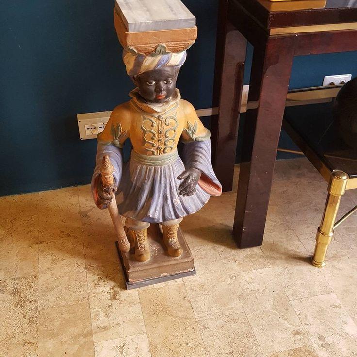 Antique italian terracotta  venetian moor.