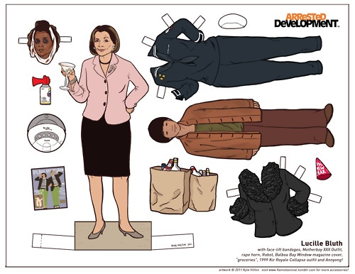Lucille Bluth paper doll