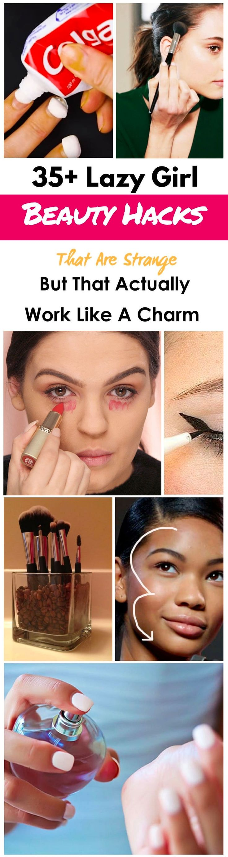 35 Lazy Girl Beauty Hacks That Are Strange But That