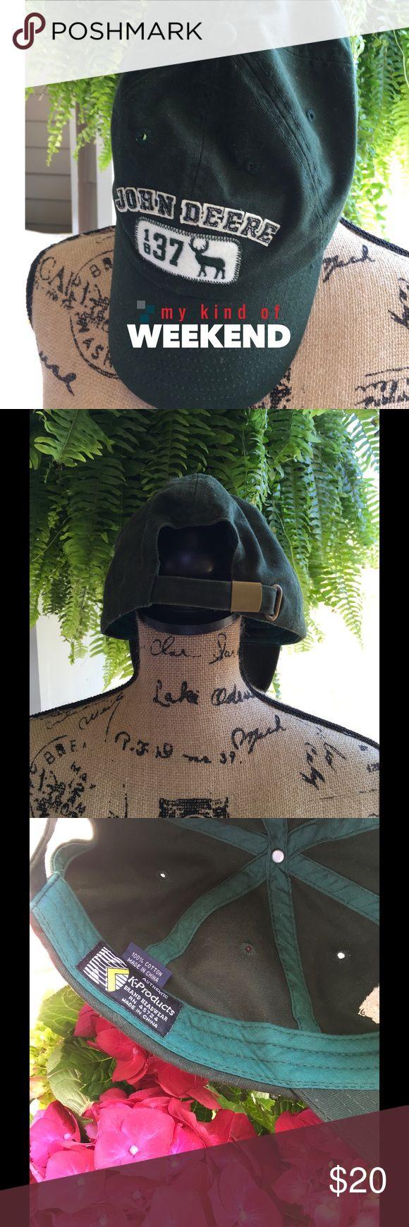 John Deere Ball Cap Deep green in color. Great condition. John Deere Accessories Hats