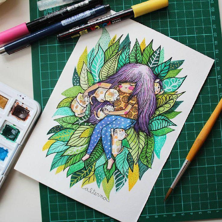 https://flic.kr/p/G36hTD | I love (my) cats .. and i miss you u.u | #alterna #lovecats #catlover #cat #katze #gato #gatito #minino #illustration #ilustración #illustrationberlin #berlin #germany #watercolor #acuarelas #vangoghwatercolor #natur #nature #natural #naturaleza #plantas #