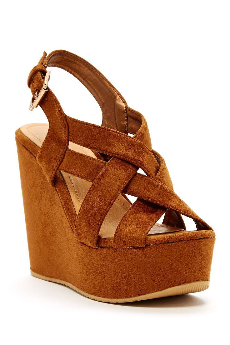Loricee Platform Wedge by Elegant Footwear on @nordstrom_rack