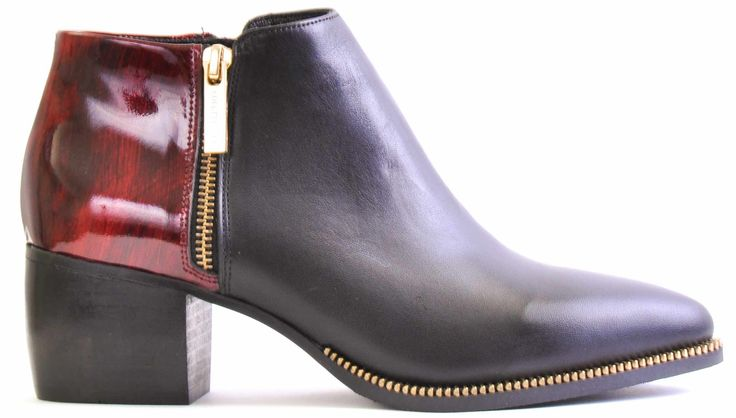 Flat bootie red patent