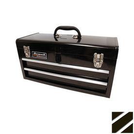Homak 20-in 2-Drawer Lockable Black Steel Tool Box