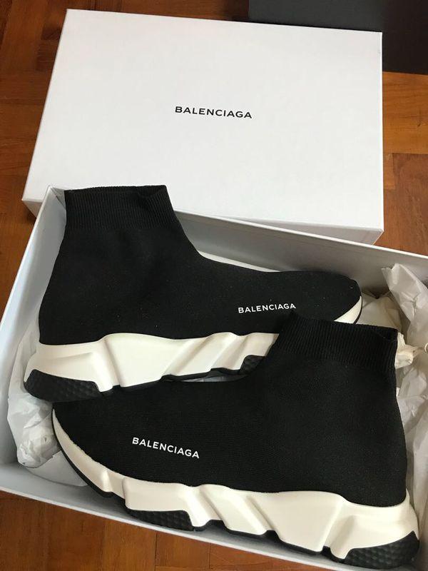 Balenciaga sock runners black size 10