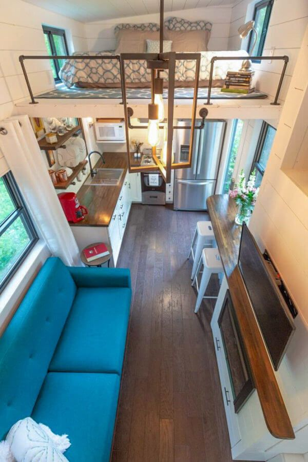 A Tiny House Without Sacrifices In Design Tiny House Basics Tiny House Interior Design Tiny House Loft Tiny House Interior