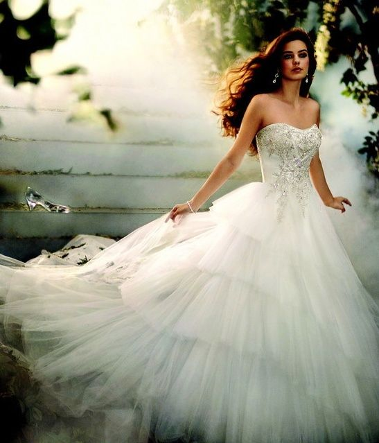 Cinderella Themed Wedding Dresses : Cinderella wedding dress disney themed