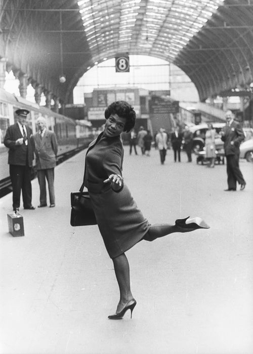Eartha Kitt at Paddington Station, London, 1960  viaorsons
