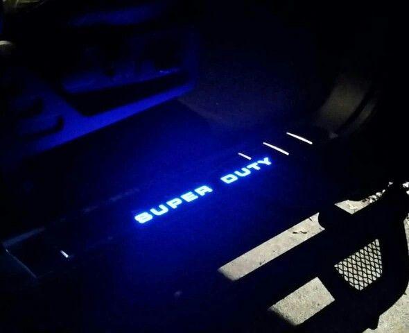 Super Duty LED door sills. Ford f250 custom diesel.