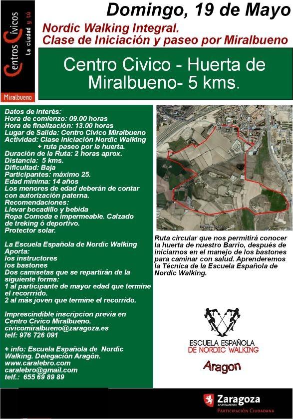 Actividad organizada por el Centro Civico Miralbueno. Plazas limitadas a 25. Imprescindible inscripcion previa en el Centro Civico.