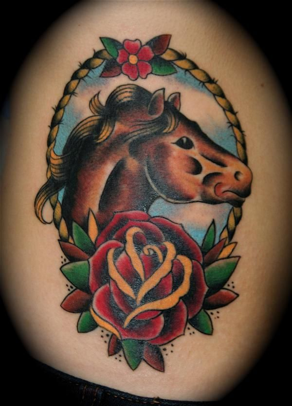New School Horse Tattoo: Looking For Unique Dave Kruseman Tattoos? Horse Head