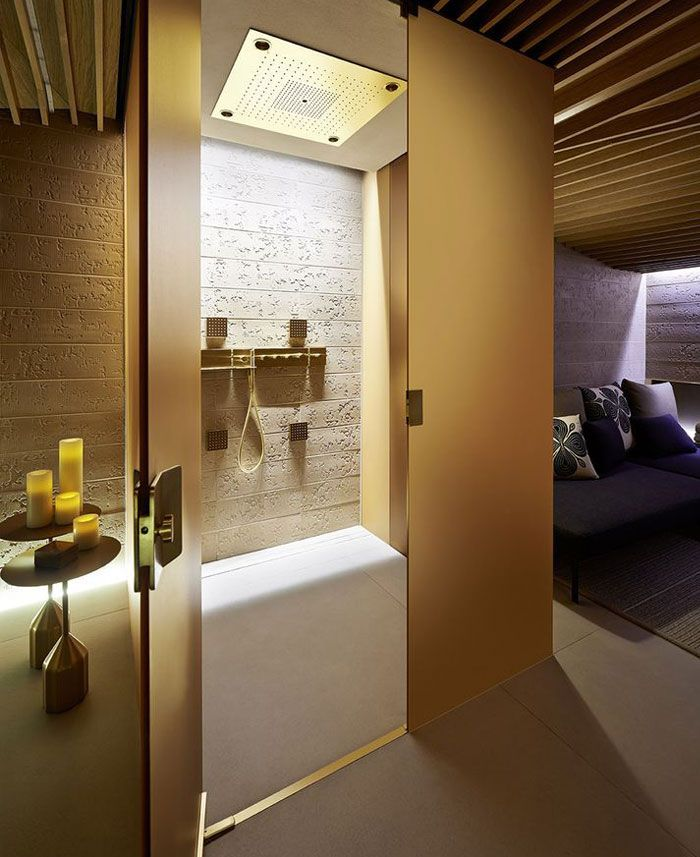 Spa At Four Seasons Milano Is Furnish With Wood Cream And