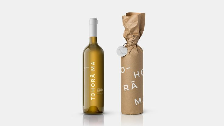 Packaging for Tohora Ma, a White Wine From New Zealand